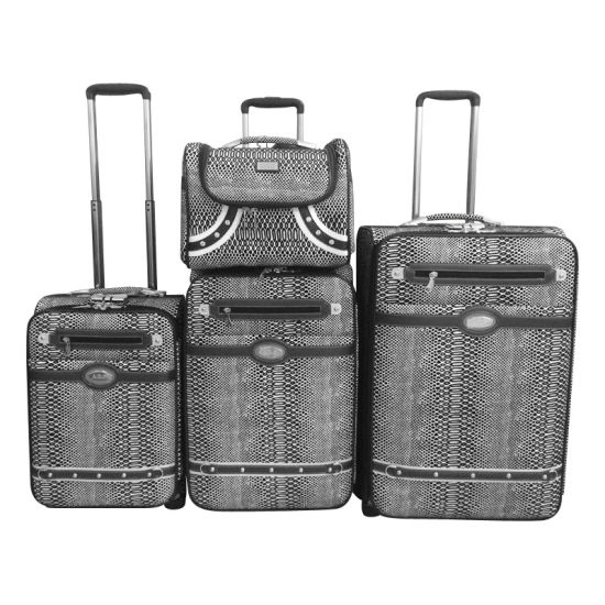 PU Luggage Travel Bag Luggage Trolley Case Jb1501 pictures & photos