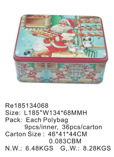 Hot Sale Christmas Gift/Food/Cookies/Candy/Chocolate Metal Box pictures & photos