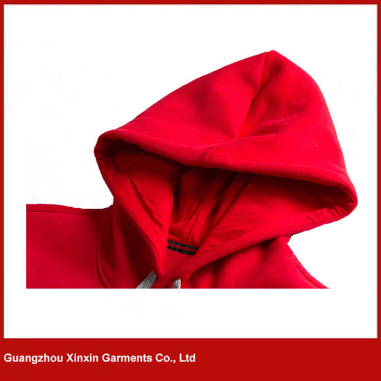 Red High Quality Pullover Embroidery Sweatshirt Hoody Jacket Manufacturer (T175) pictures & photos