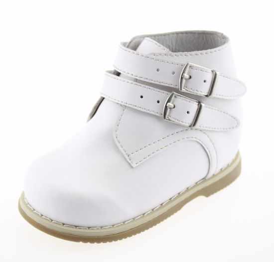 Toddler Baby Girls Prewalker White Walking Leather Infant Shoes