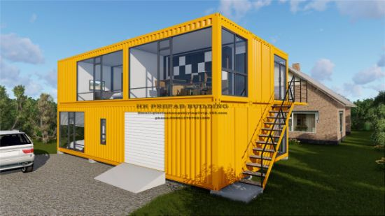 40FT Modular Prefab/Prefabricated Movable Container House for Two Floor Apartment. & China 40FT Modular Prefab/Prefabricated Movable Container House for ...