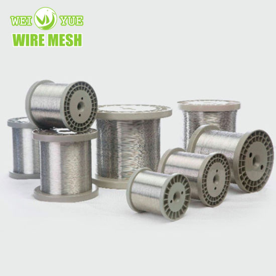 Ultra Thin 316 0.018 mm Bright Annealed Stainless Steel Weaving Sewing Thread Used for Cut Resistant Gloves