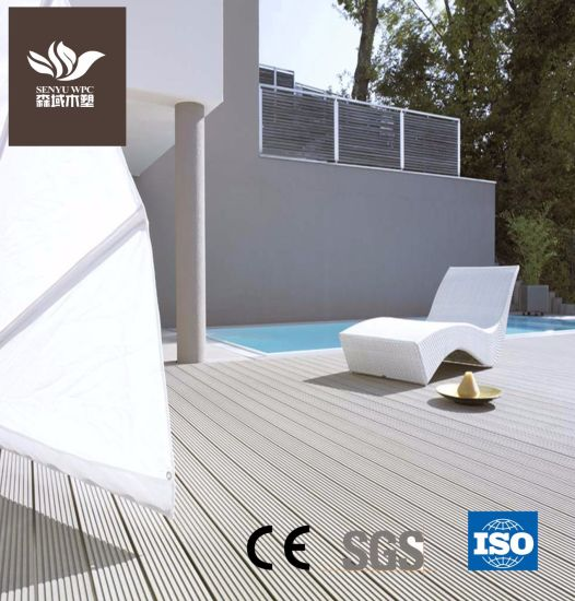 Outdoor WPC Plastic Wood Composite Decking for Outdoor Flooring with Ce