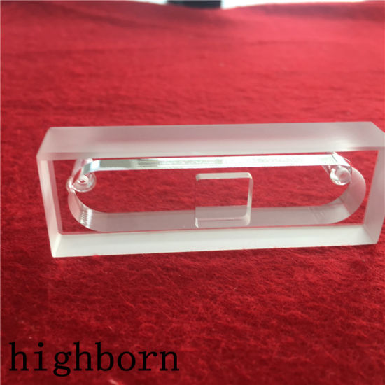 Clear Quartz Glass Flow Through Cell with Square Opening pictures & photos