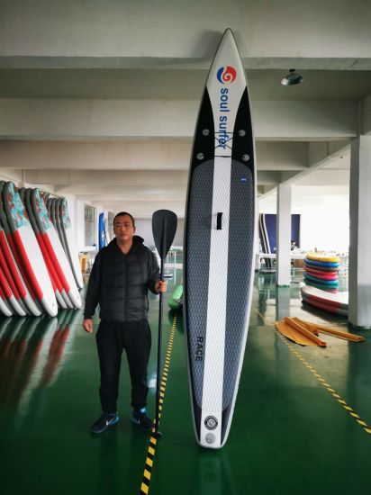 2020 Hot Sale Inflatable Racing Surfboard for Racer Racing Sup Board