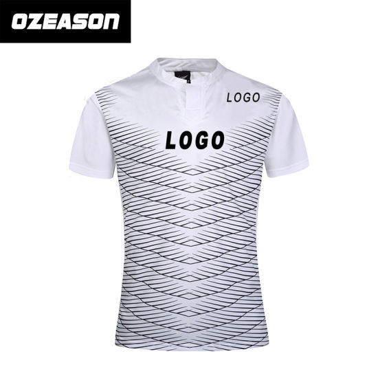 3dca2e95a97 Customized 100% Polyester Men′s Plain Sublimation Rugby Shirt (R019)  pictures &