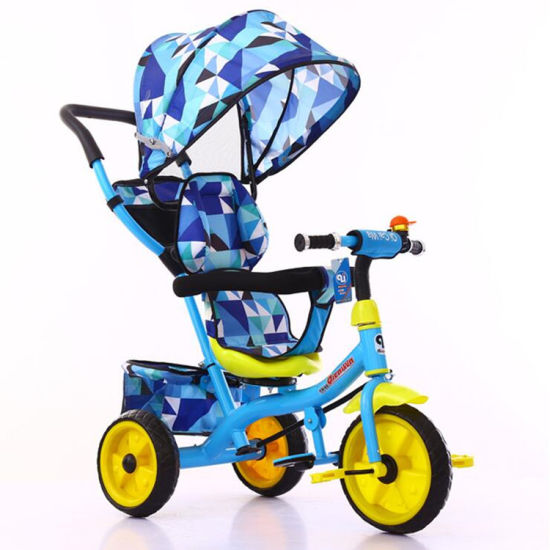 Factory Direct Baby Stroller Multifunction 4 in 1 Baby Tricycle for 1-6 Years Old Child