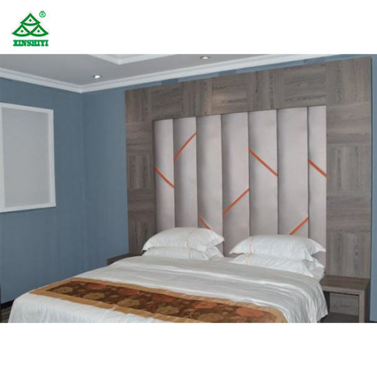 Contemporary Hotel Furniture Formica Laminate Fireproof Panel Hotel Bedroom  Set