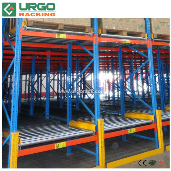 Heavy Duty Metal Gravity Roller Warehouse Storage Carton Flow Pallet Racking