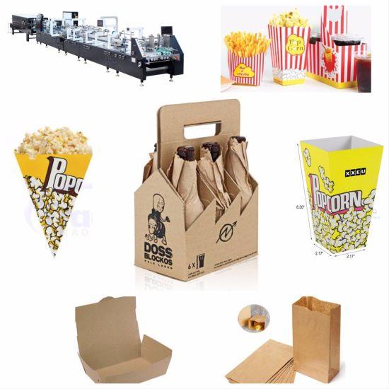 Auto Popcorn Chicken Box Folder Gluer Machine (GK-800GS)