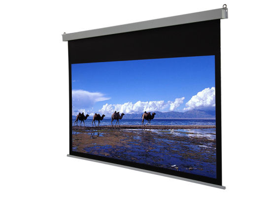 Motorized Ceiling-Recessed Projection Screen with Remote Control for Cinema