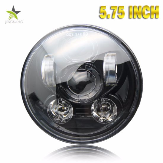 40W Angle Eyes Round 5.75inch LED Motorcycle Headlight with DOT for Jeep