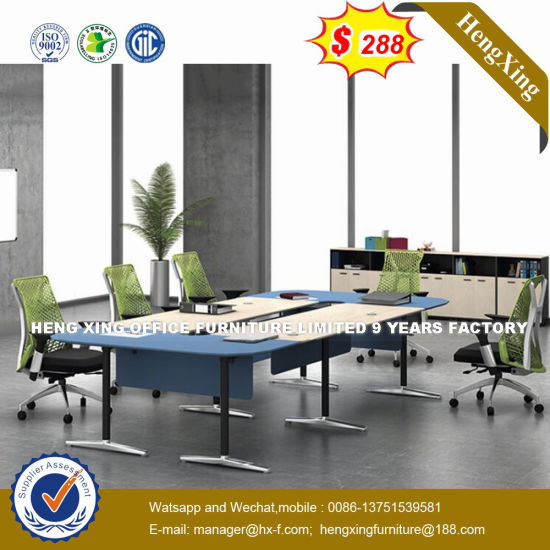 China Beauty Salon Wooden Small Round Conference Table HXN - Small round meeting table and chairs
