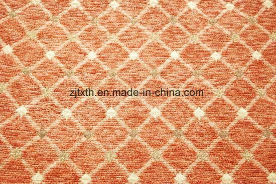 Chenille Jacquard Geometric Pattern Fabric For Sofa