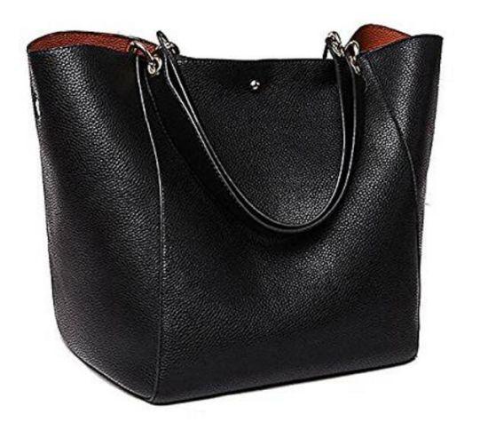 d564e1c623 China Factory Tote Bag Women Handbag PU Leather Shopping Bag Shoulder  Classy Black