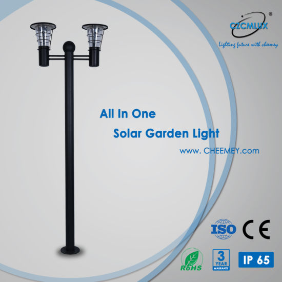 2~3m All in One Outdoor LED Solar Garden Light with Casting Aluminum