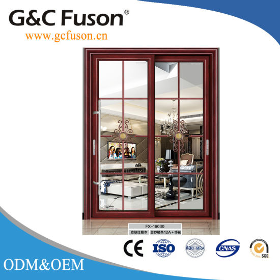 White Aluminium Frame Sliding Door With Stainless Steel Insect Screen
