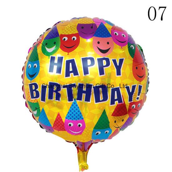 Custom Design 18 Inches Happy Birthday Foil Balloons