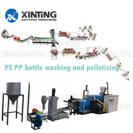 Dirty Plastic Pet Flakes Bottle Washing Recycling Line with Crushing Drying Machines