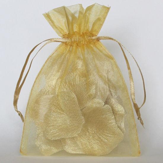 OEM Size Organza Promotional Gift Bag Gold Color