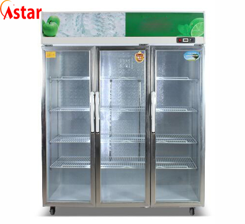Cold Display Freezer with 3 Doors Commercial Cool Room Storage Display Anti-Bacterial pictures & photos