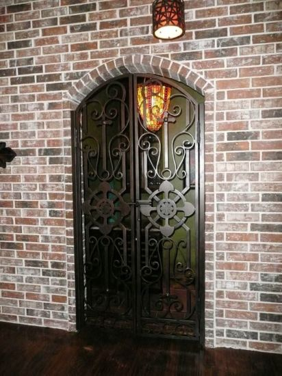 China Arch Top Custom Iron Single Door Design for Home - China ... on
