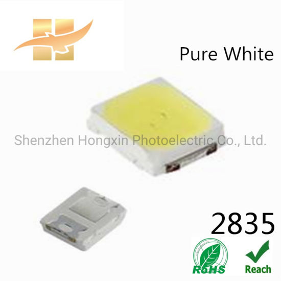 China LED Chip Suppliers SMD LED Types Pure White LED Chips 0.2W 2835 SMD LED