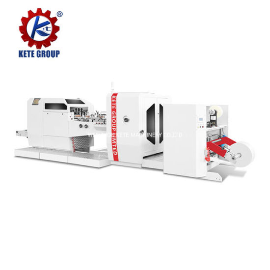 Automatic Craft High Speed Paper Bag Making Machine with Plastic Window