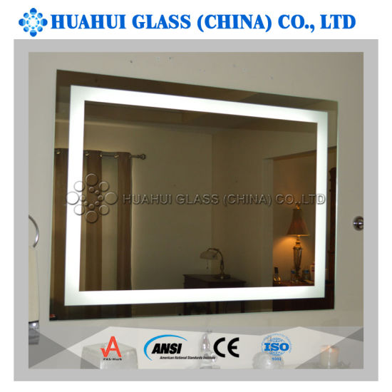 Frameless Anti Fog Wall Mounted Makeup Mirror Led Lighted Vanity Bathroom Mirror China Led Mirror Bathroom Mirror Made In China Com