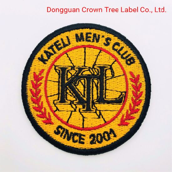 Wholesale Durable Overlocking Embroidery Badge in New Design for Garment