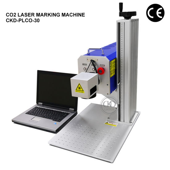 Discount CO2 Logo Printing Laser Marking Machine for Plastic Sport Silicone Bracelets Cloth Cutting PP PE Acrylic Date Precision Coding Numbering