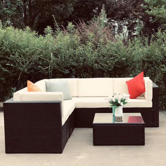 Outdoor Patio Furniture Garden Rattan Wicker Modular Sectional Sofa Set