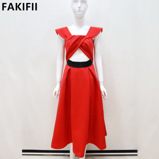 2021 New Arrival Cutomised Fashion Sexy Red Slim Red Gown Lady Dress Wedding Dress