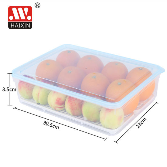 Rectangle Shape PP Material Plastic Freezer Container for Kitchen Food Storage