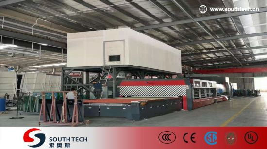 Southtech New Generation Passing Flat Double Chamber Double Quenching Toughened Glass Processing Machine with Vortech Convection System (TPG-2S-V series)