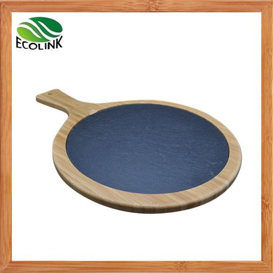 China Round Bamboo Slate Cheese Board