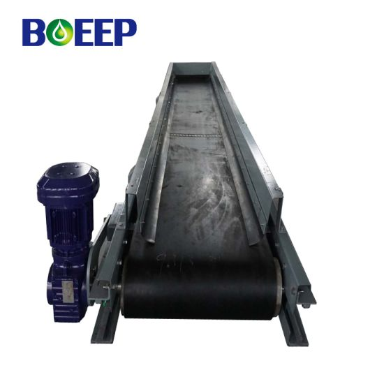 Mechanical Powered Transfer Flat Belt Conveyor Machine for Sale