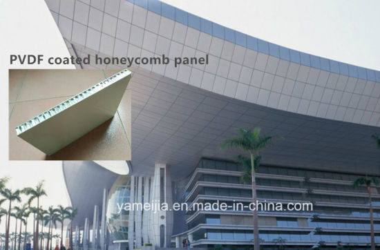 25mm PE/PVDF Coated Honeycomb Panels Exterior Metal Wall Cladding Panels