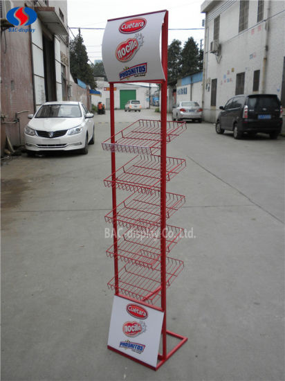 Universal Product Mesh Display Stand for Snack Foods pictures & photos
