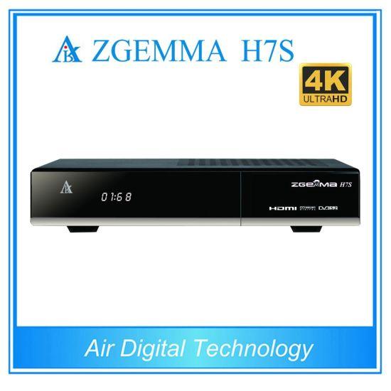 Zgemma H7s with 2*DVB-S2/S2X + DVB-T2/C Three Tuners 4k Uhd Satellite  Receiver