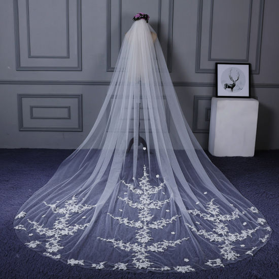 Cheapest Long Lace Bridal Wedding Veils Ts5522