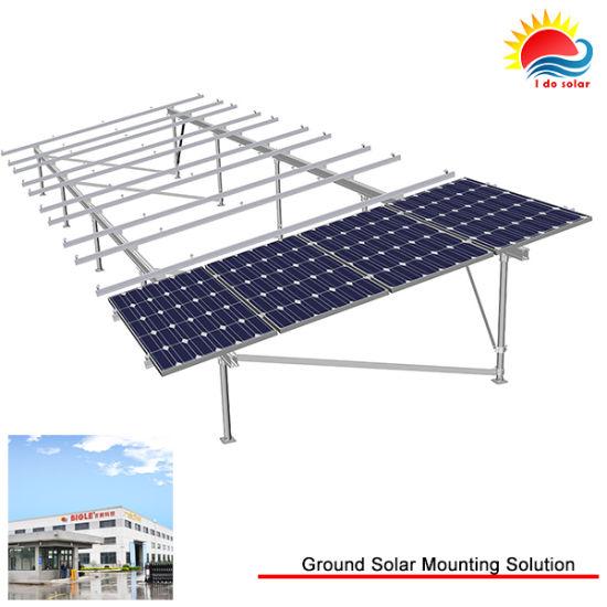 China Custom T5-6000 Series Anodised Aluminium Ground Mount Solar ...