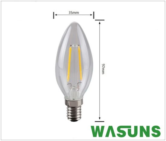 LED Candle Bulbs 2W Decorative Filament Light Bulbs pictures & photos