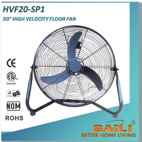 "20"" Strong Airflow High Velocity Floor Fan pictures & photos"