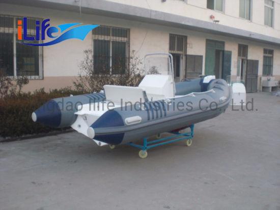 Ilife 0.9 mm PVC High Quality Wholesale Rigid Inflatable Fiberglass Hull Rib Boats