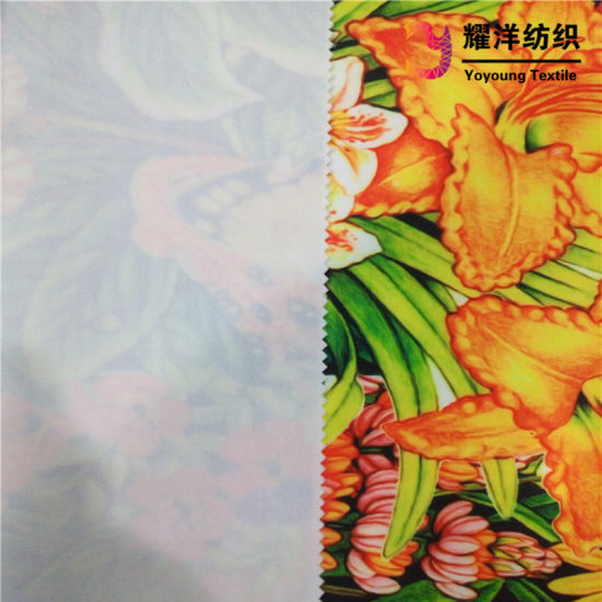 China Scuba Lycra Jersey Fabric with Leaf Forest Digital