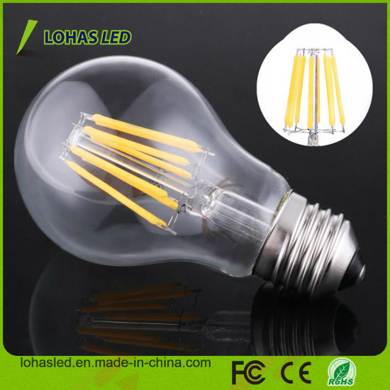 Dimmable A60 E27 B22 2W 4W 6W 8W Cold Warm White Edison LED Filament Bulb Light pictures & photos