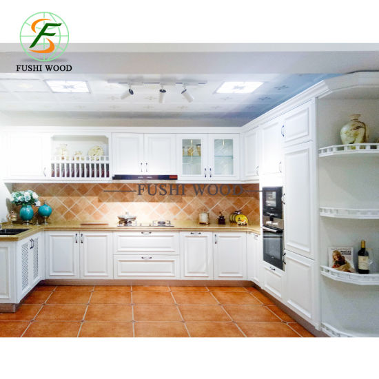Hot Selling Modern and Fashiopn Type Solid Wood Kitchen Cabinet Furniture