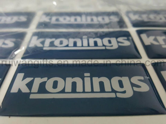 Custom 3D Epoxy Resin Dome Sticker with Logo Printed