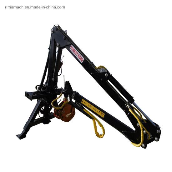 3-7.5m RC Lifting Machine Wood Timber Log Crane with Ce